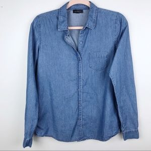 The Limited Chambray Button Down Shirt Sz S NWT